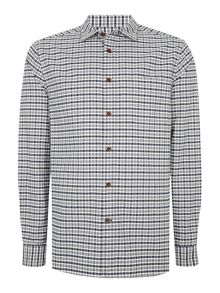 Howick Brier Oxford Checked Long Sleeve Shirt