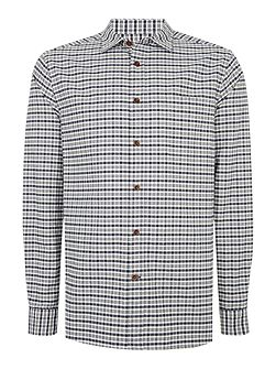 Men's Howick Brier Oxford Checked Long Sleeve Shirt