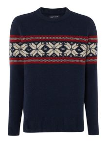 Howick Halifax Fairisle Crew Neck Christmas Jumper