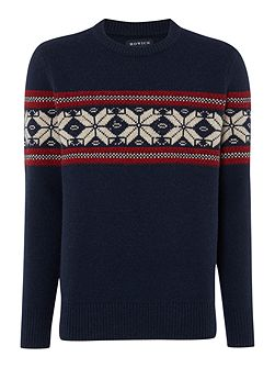 Men's Howick Halifax Fairisle Crew Neck Christmas Jumper