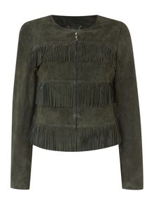 Biba Real suede & leather jacket