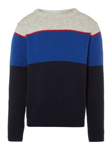 Boys Placement stripe jumper