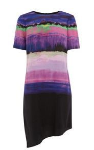 Karen Millen Painterly stripe dress