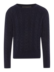 Howick Junior Boys Kevin cable crew neck jumper