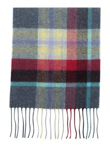 Johnstons of Elgin Country Check Lambswool Scarf