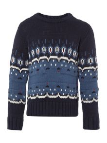 Boys Jacob fairisle jumper