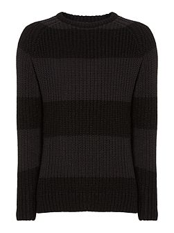 Vincent Textured Crew Neck Jumper
