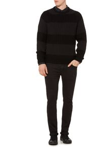 Label Lab Vincent Textured Crew Neck Jumper