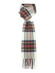 Johnstons of Elgin Long Purple & Green Check Scarf