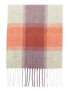 Johnstons of Elgin Square Check Long Scarf