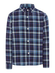 Boys Robert brushed check shirt