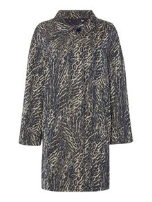 Max Mara Bormio animal print raincoat