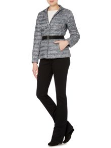 Max Mara Tibet printed padded jacket with belt