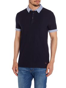 Regular Fit Polo Shirt With Contrast Pique Collar