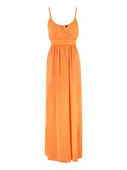 Papaya Twisted Strap Maxi Dress