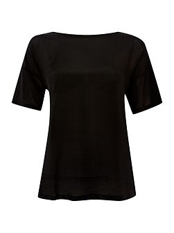 Astoria silk front tee