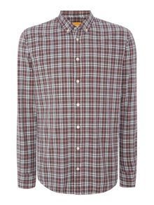 Hugo Boss Edipoe Classic Fit Button Down Check Shirt