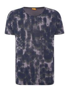 Timmoleo Regular Fit Smudge Print T-Shirt