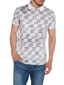 Padalino Regular Fit Square Print Polo Shirt