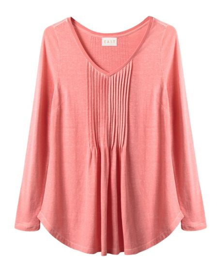 East Pintuck Hemp Jersey Top