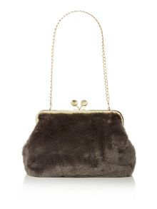 Tilly fur clutch handbag