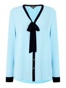 Biba Tie detail button up blouse