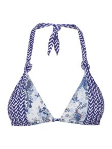 Linea Weekend Porcelain Print Triangle Bikini Top