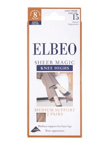Elbeo Sheer magic medium support 15 D sheer knee high