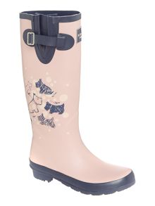 Cherry blossom dog Long Welly Boot