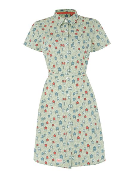 Beach hut short sleeve shirt dress £40 by Brakeburn