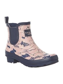 Cherry Blossom Ankle Wellie Boot