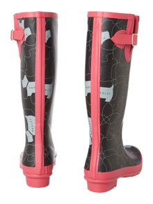 In Stitches long wellie boot