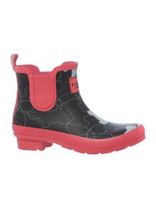 In Stitches Ankle Wellie Boot