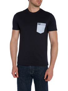 Fred Perry Crew Neck Regular Fit Woven Patch Pocket T-Shirt