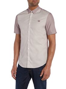 Fred Perry Classic Fit Short Sleeve Button Down Stripe Shirt