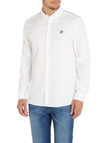 Plain Classic Fit Long Sleeve Poplin Button Down