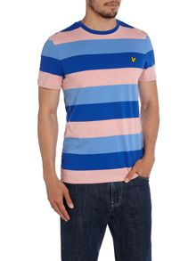 Lyle and Scott Rugby Stripe Crew Neck Regular Fit T-Shirt