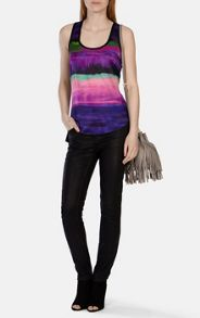 Karen Millen Painterly stripe silk front vest