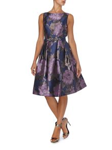 Eliza J Sleeveless floral with beaded waist dress