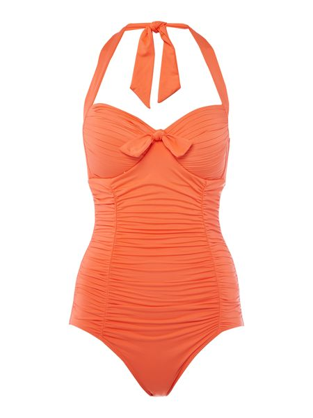 Seafolly Soft cup halter maillot swimsuit
