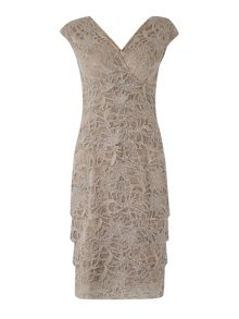 Eliza J Tiered lace shift dress