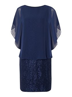 Lace dress with chiffon pop over