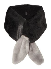 Helen Moore Vixen Dipped Long Faux Fur Scarf