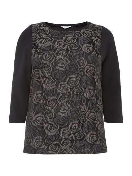Persona Olfatto textured front knitted jumper