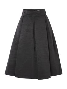 High waisted pleated skirt