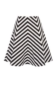 Karen Millen Graphic Stripe Panel Skirt
