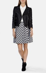 Graphic Stripe Panel Skirt