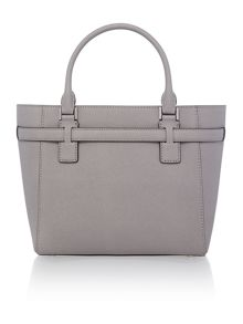 Hamilton grey large zip top tote bag