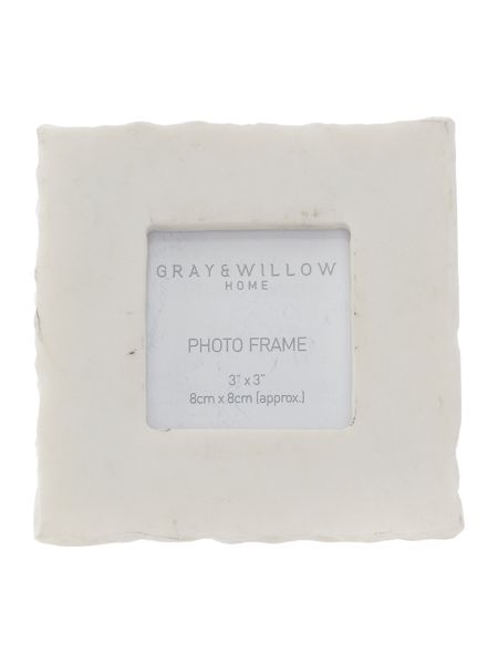 Gray & Willow Natural marble frame 3x3