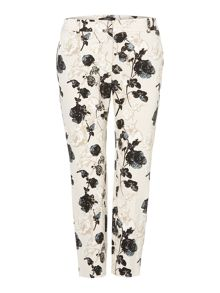 Abele floral print cropped trousers